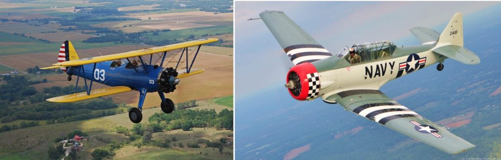 WWII Stearman Biplane and T-6 Warbird